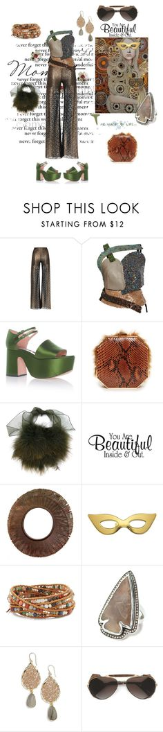 """""""You are beautiful inside&out"""" by zabead ❤ liked on Polyvore featuring HUISHAN ZHANG, Rosie Assoulin, Rochas, Alessandra Rich, Sonia Rykiel, Kate Spade, Chan Luu, Pamela Love, Panacea and Gold & Wood"""