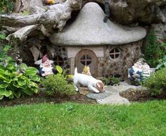 Gnome home, complete with puppy!  Image: K9acres.net I want this!!