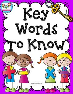 A Key to Word Problems!! Essential words for the four operations from Create abilities on TeachersNotebook.com -  (9 pages)  - A Key to Word Problems!! Essential words for the four operations
