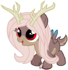 Little Fawn: She is a mixed breed of a Pegasus and a Deer. She loves animals and looks up to Fluttershy.