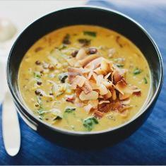 Spiced Lentil Soup With Coconut Milk (via www.foodily.com/r/reQ1Fzanh-spiced-lentil-soup-with-coconut-milk)