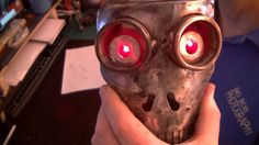 how i lite up the eyes in my skull head terminator style.lol