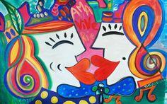 Happy Love Kingdom by #patogilvillalobos (90 x60 cm)#happyartbypato WE DELIVER WORLDWIDE #colores #artefeliz #art #laart #nyart #miamiart #happyartistmovement #happyartist #amorencolores #instaart #instaartist #instaartista #happyart