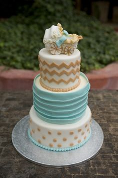Project Nursery - Gender Neutral Baby Shower Cake