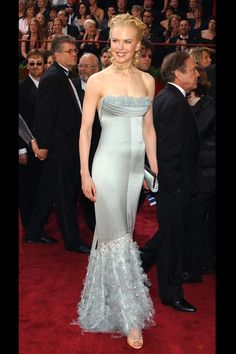 What: Chanel Couture Where: Academy Awards in 2004 Why: The stunning Aussie has many a gowns to remember, but this sky blue frock was a standout.  Getty Images  - HarpersBAZAAR.com