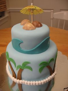 beach birthday cake - Google Search