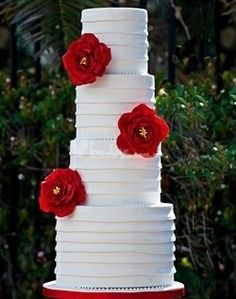 Red Wedding Cake Inspirations Ideas White Cakes And