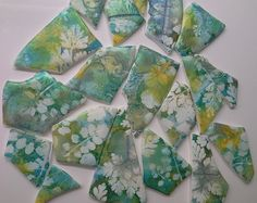 """Letting Nature do the painting"" - botanical prints on polymer clay 