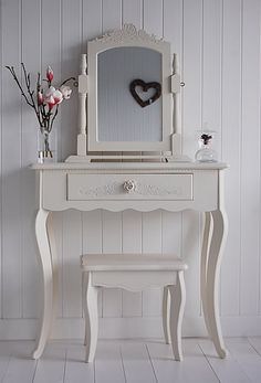 Cream Peony Dressing Table - Peony Cream Bedroom Furniture