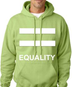 WEDDING GIFT Equality Pride Kiwi Hoodie Unisex Gift by LGBTQTees