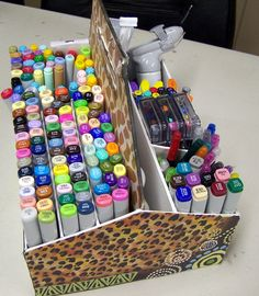 tutorial copic markers storage