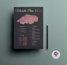 Elegant  chic resume package with 2 color options by TemplatesShop