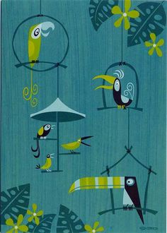"by Shag - This would be perfect in the ""Tiki Room"""