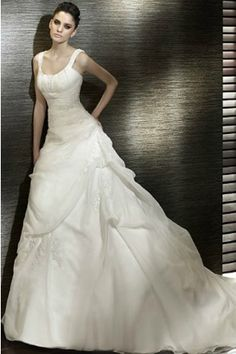 Taffeta Fabric A -Line Silhouette And With Lace-Up Back Design