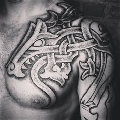 ... Tattoo on Pinterest   Aquarius tattoo Armor tattoo and Celtic dragon