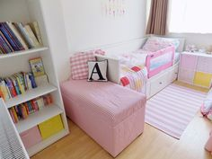 Amelia's Room- Toddler Bedroom with Ikea Hemnes daybed. Guard added
