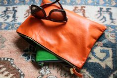 Claire Vivier recycled leather clutch