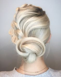 Beautiful softly swirled twist updo by Aveda Artist Sarah Naslund.