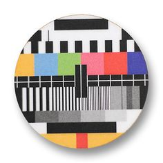 TV Screen Test Brooch by bRainbowshop on Etsy