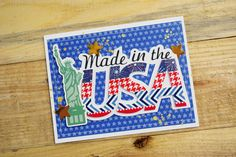 July 4th - Made in the USA card by Becki Adams for Stamp & Scrapbook Expo