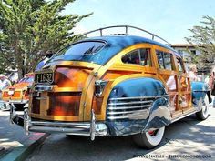 1942 Chrysler Barrel Back Town & Country Estate Wagon Mopar, Dodge, Rat Rods, Carros Vw, Jeep, Pompe A Essence, Wagon Cars, Woody Wagon, Maserati