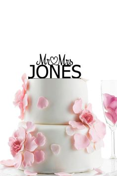 Wedding Cake Topper - Personalized Monogram Cake Topper - Mr and Mrs -  Cake Decor -  Bride and Groom on Etsy, $14.00