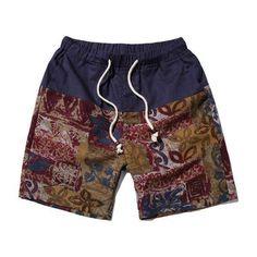 SHAN BAO brand Hawaiian style men and women casual beach shorts summer new loose waist thin flowers shorts 12 colors
