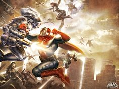 CITY of HEROES Key Art  by Pixel-Saurus