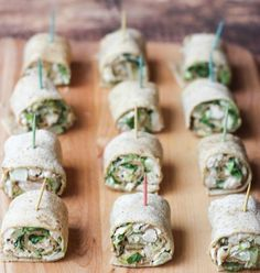 Ideas Appetizers Easy Cold Finger Foods Chicken Salads For 2019 Pinwheel Appetizers, Pinwheel Recipes, Cold Appetizers, Finger Food Appetizers, Appetizers For Party, Appetizer Recipes, Toothpick Appetizers, Individual Appetizers, Pinwheel Sandwiches