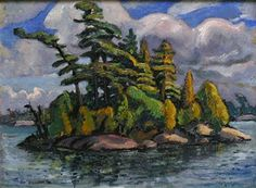 Arthur Lismer -Near Manitou Dock Georgian Bay 12 x 16 Oil on canvas board (July… Group Of Seven Artists, Group Of Seven Paintings, Canadian Painters, Canadian Artists, Ottawa Art Gallery, Emily Carr Paintings, Tom Thomson Paintings, Most Famous Artists, Photo Engraving