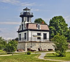 Colchester Reef Lighthouse by philhaber, via Flickr (originally built in 1871 in the middle of Lake Champlain, now located on the grounds of the Shelburne Museum in Shelburne, Vermont)
