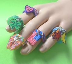 Shrinky Dinks: Free Pattern - Charming Ring Things