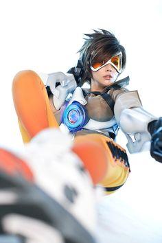 Korean cosplay Tasha as Overwatch's Tracer - Album on Imgur