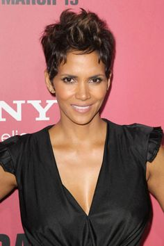 Pixie Perfect: The Close Crops We're Loving #refinery29  http://www.refinery29.com/44550#slide5  Halle Berry has rocked a beautiful, soft pixie for years, but her recent addition of warm highlights has really set her look on fire. We love how her spiky texture looks totally natural, like she simply ran her fingers through it. Photo: Rex USA