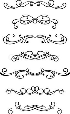Vector of 'Swirl elements and monograms for design and decorate'
