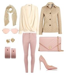 """""""Untitled #8"""" by ycsandjaja on Polyvore featuring Tory Burch, H&M, Burberry, Dorothy Perkins, Christian Louboutin, Linda Farrow, Charlotte Russe and Blue Nile"""