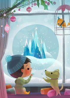 Love the gentle cel shading here, and very subtle pencilly texture. By Joey Chou.