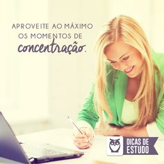 Não desperdice os momentos de concentração! #dicas #estudos #concursos #foco #disciplina