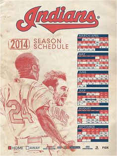 2014 Cleveland Indians by Ryan Cirignano, via Behance