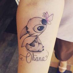 - My most beautiful tattoo list Forearm Tattoos, Body Art Tattoos, New Tattoos, Small Tattoos, Sleeve Tattoos, Rosen Tattoo Frau, Lilo And Stitch Tattoo, Disney Tattoos Stitch, Ohana Tattoo