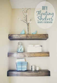 Best DIY Projects: DIY Floating Shelves | how to build floating shelves - I want these in the bathroom