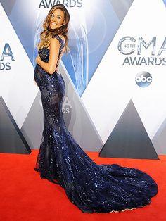 CMA Awards 2015: Best Dressed of the Night: Jana Kramer in a custom Galia Lahav navy sequined dress