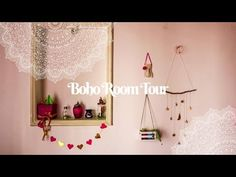 ♡☆ A tour of my aesthetic BOHO ROOM back @ Buenos Aires, Argentina. So, I decorated the room wit. Diy Room Decor For Teens, Crafts For Teens To Make, Teen Room Decor, Easy Home Decor, Diy For Teens, Diy For Kids, Cute Crafts, Decor Crafts, Diy Crafts