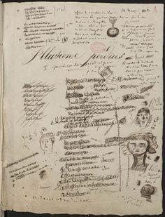 Honoré de Balzac, manuscript page Illusions perdues, 1837-1843