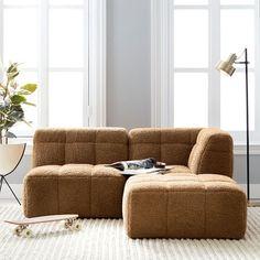 Cushy Lounge Sectional Sofa | Teen Sofa | Pottery Barn Teen Teen Lounge, Lounge Couch, Cozy Couch, Lounge Seating, Sectional Sofa, Comfy Couches, Floor Couch, Sofas, Small Corner Couch