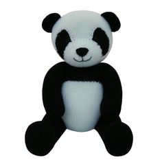 Small Panda Bear - knitting pattern (knitted round) Toys, Knitting and The ...