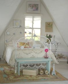 Lovely romantic dollhouse room
