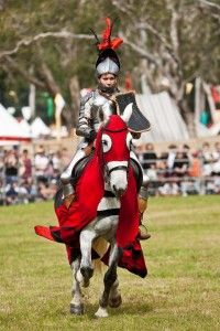 Jousting guarantees an exciting display of skill, grace and honour