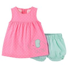 Just One You�Made by Carter's� Newborn Girls' 2 Piece Dot Elephant Set - Pink
