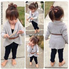 Schattige herst outfit meisje